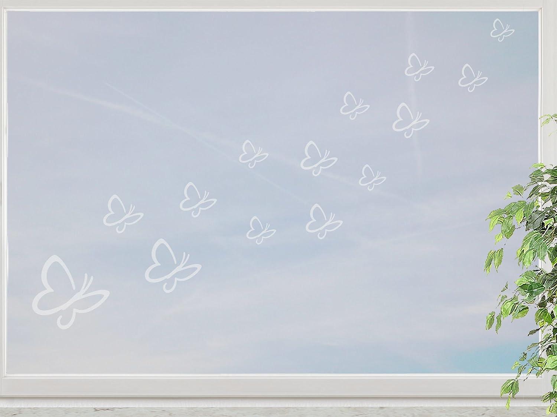 wandfabrik – Fenstersticker 14 Schmetterlinge 3-10cm Motiv (S3S2)- – frosty – 798 – (Xt) jetzt bestellen