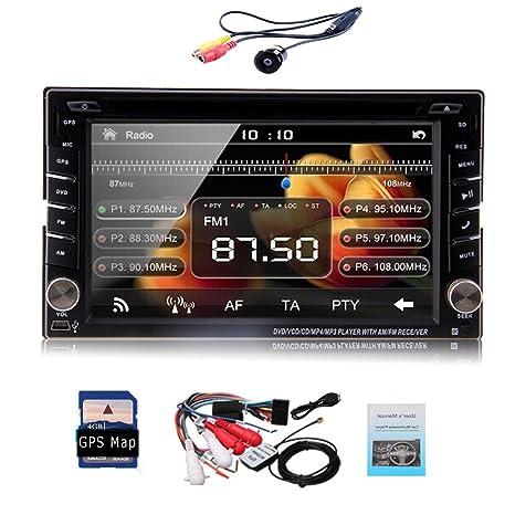 Nouvelle camšŠra gratuit et šŠcran tactile SD Carte Universal voiture lecteur DVD GPS Navigation HD Aux BT Autoradio soutien Android connexion du tšŠlšŠphone PC stšŠršŠo v