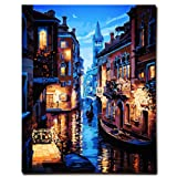 KXCFCYS DIY Oil Painting by Numbers Kit Theme PBN Kit for Adults Girls Kids White Christmas Decor Decorations Gifts - 6127 (with Frame) (Color: With Frame)