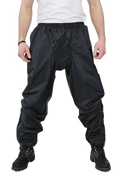 NERVE 25140104_04  S-Easy Pantalon de Pluie, Noir, Taille L