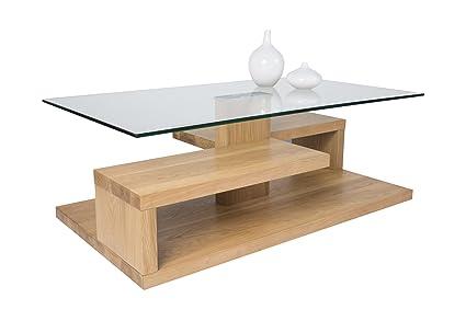 HL Design 01-01-162.5 Tim Table Basse Bois Chêne Sauvage 105 x 59 x 40 cm