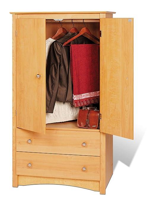 Prepac Maple Sonoma 2 Door Armoire