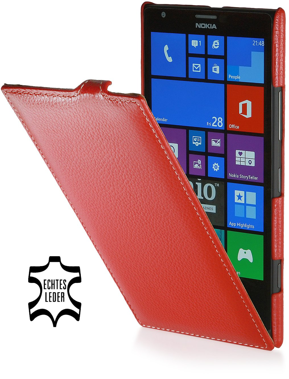 StilGut UltraSlim Genuine Leather Case for Nokia Lumia 1520, Redreview and more information