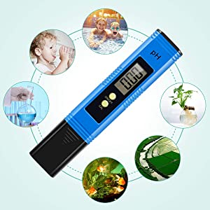 Digital PH Meter, PH Meter 0.01 PH High Accuracy Water Quality Tester with 0-14 PH Measurement Range (Color: 2019 New Blue)