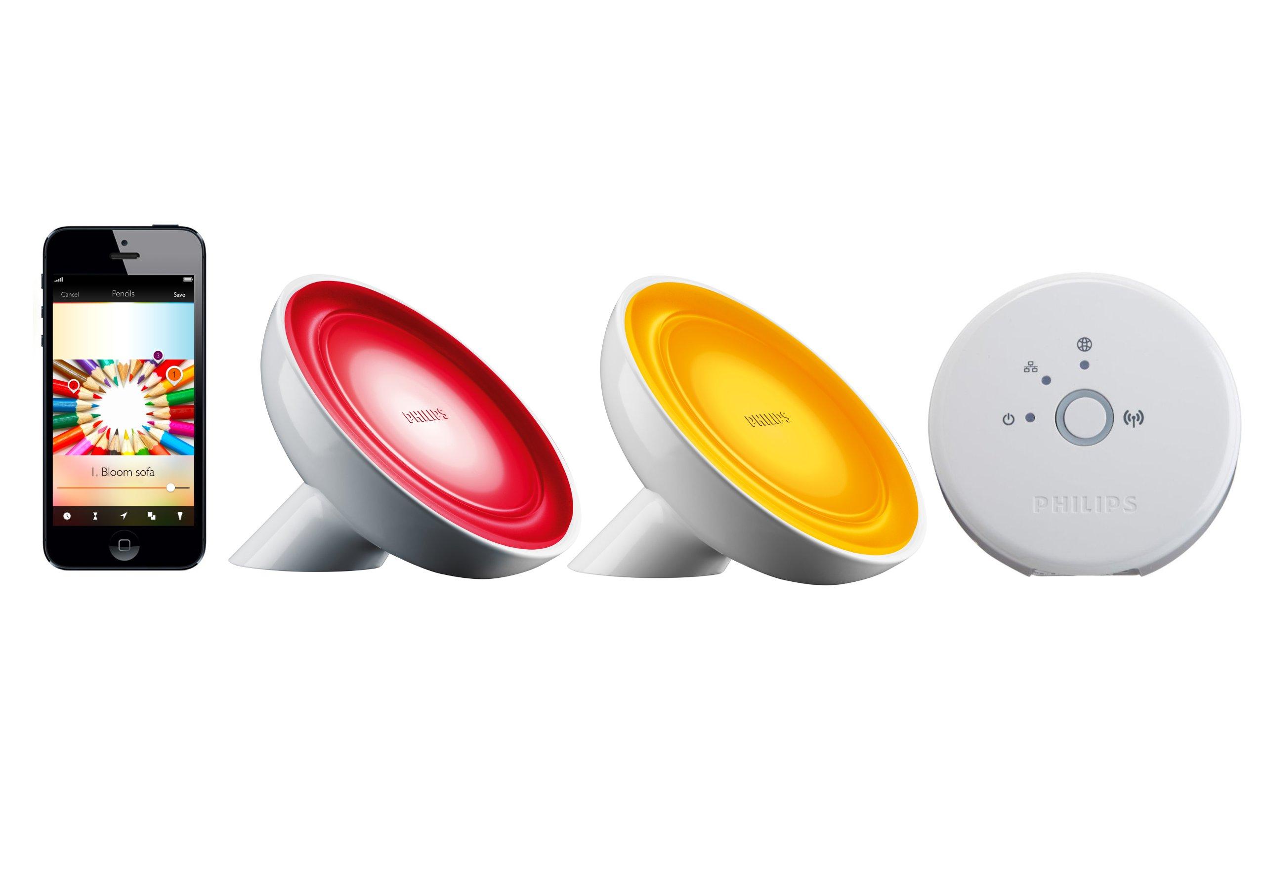 philips friends of hue personal wireless lighting bloom starter kit 2. Black Bedroom Furniture Sets. Home Design Ideas