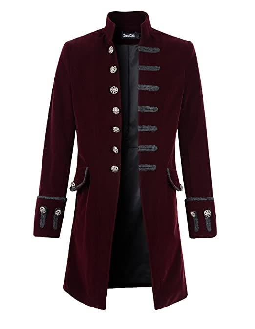 Steampunk Men's Coats  Mens Velvet Goth Steampunk Victorian Frock Coat                                AT vintagedancer.com