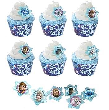 Frozen Cupcakes Snowflake 24 Disney Frozen Cupcake Rings