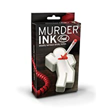 Fred & Friends Scientific Murder Ink Sticky 300 Page Notepad and Pen Set