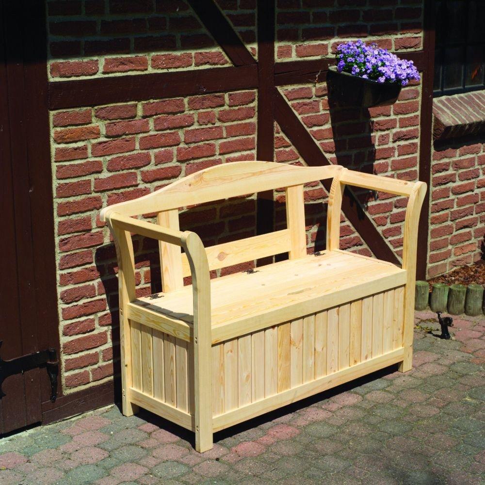 Friesenbank mit Kissenbox Sitztmöbel Stauraum Holz Gartenmöbel, Zubehör:Ohne Zubehör kaufen