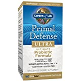 Garden of Life Whole Food Probiotic Supplement - Primal Defense Ultra Ultimate Probiotic Dietary Supplement for Digestive and Gut Health, 180 Vegetarian Capsules (Tamaño: 180 count)