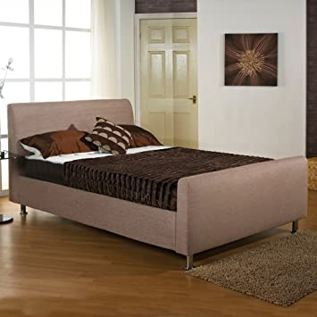 "Hf4You Upholstered Bedstead - 6Ft Super King - Wholemeal - 9"" Ortho Damask Mattress"