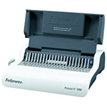 Fellowes Binding Machine, Comb, Pulsar E 300, Electric, with Starter Kit (5216701)