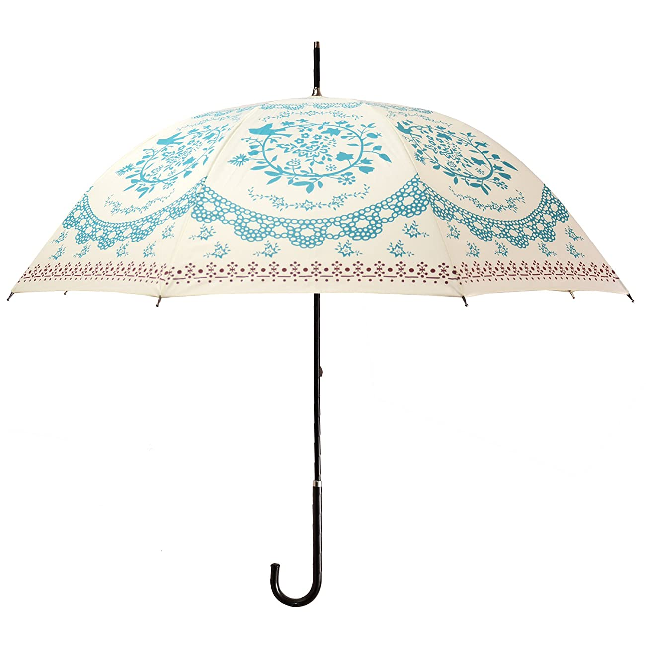 Kung Fu Smith Vintage Flower Totem Print Bubble Dome Rain Umbrella 0