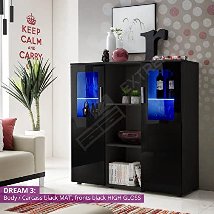 SIDEBOARD - GLOSSY FRONTS - STORAGE and DISPLAY - DREAM 3 / BB