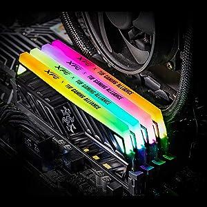 XPG Spectrix D41 TUF Gaming RGB 3200MHz 16GB (2x8GB) 288-Pin PC4-25600 Desktop U-DIMM Memory Retail Kit Black (AX4U320038G16-DB41) (Tamaño: 16 Gb)