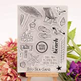 Seaskyer Beach Silicone Clear Stamp Seal DIY Scrapbook Embossing Album Decor Craft Art