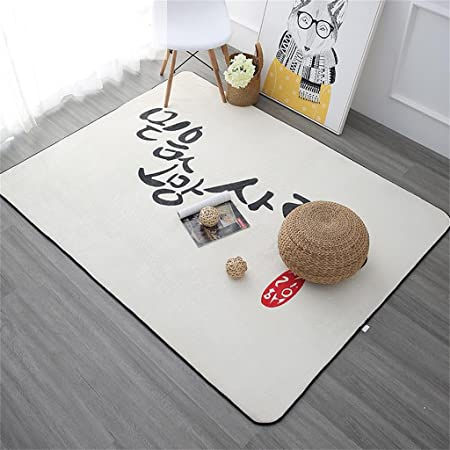 ALUK- Sala de estar minimalista moderna nórdica Dormitorio de alfombra Cama de cabecera Mesa de centro rectangular gruesa Alfombra de sofá ( Tamaño : 180cm*180cm )