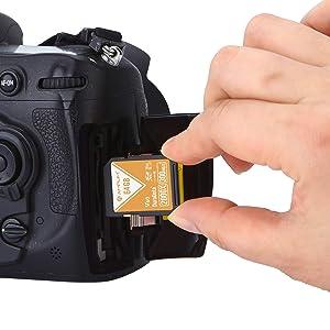64GB V60 UHS-II SDXC SD Card - Amplim Blazing Fast 300MB/S (2000X) UHS2 Extreme High Speed 64 GB/64G SD XC Memory Card. 4K 8K Video Camera UHSII Card for Fujifilm, Nikon, Olympus, Panasonic, Sony (Color: V60 64GB, Tamaño: 64GB)