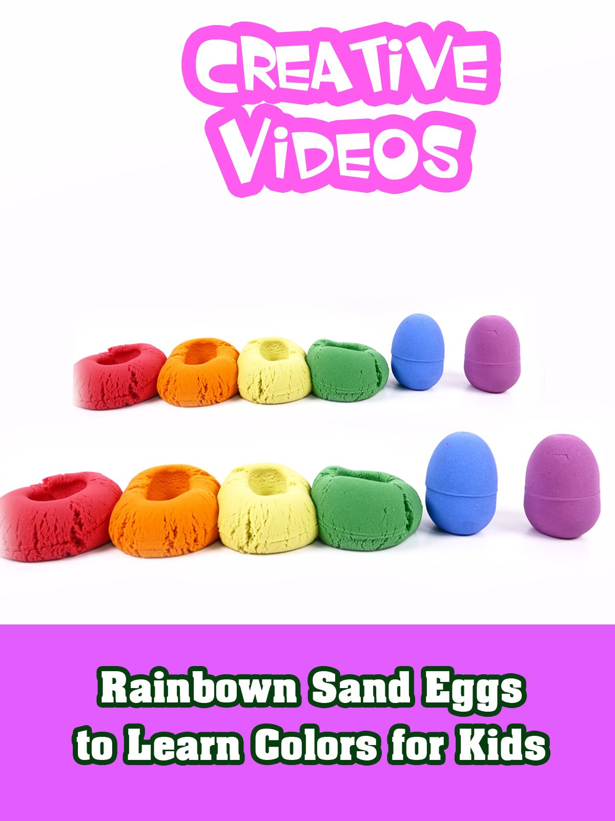 Rainbown Sand Eggs to Learn Colors for Kids
