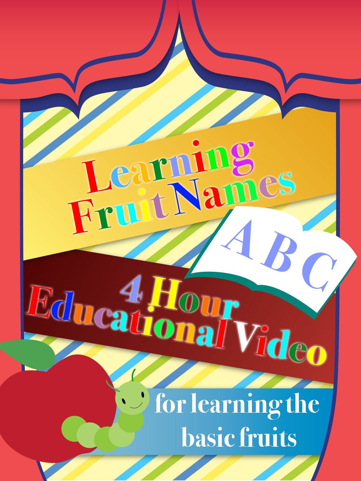 Learning Fruit Names 4 Hour Educational Video for learning the basic fruits