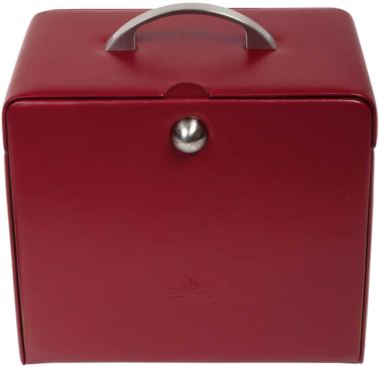 Windrose Merino Schmuckkoffer 5 Etagen 0 rot günstig bestellen