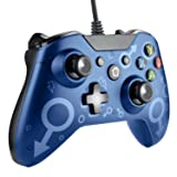 Etpark Wired Controller for Xbox One and PC, USB Wired Gamepad Game Joystick with 2.2m Cable & Gaming Headphone Jack, Support PC with Windows 7/8/10, Improved Ergonomic Design Controller