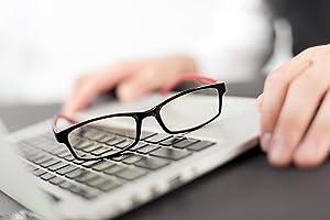 SPEKTRUM - PROSPEK - Premium Computer Glasses - Professional - Regular - Blue Light and Glare Blocking (0.00)