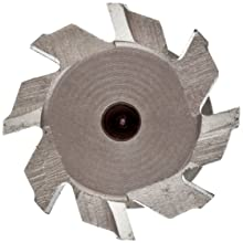 "Niagara Cutter TS109 T-Slot Shank Type Cutter, High Speed Steel, Uncoated (Bright), Weldon Shank, 10 Helix Angle, 1"" Cutter Diameter, 8 Tooth, 5/32"" Width"
