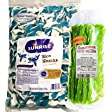 Sunrise Blue Gummy Sharks 5lb Bag With Green Apple Licorice Twist 1lb Gourmet Kruise (NET WT 6 POUNDS) 2 Item Bundle (Tamaño: 16 Ounces)