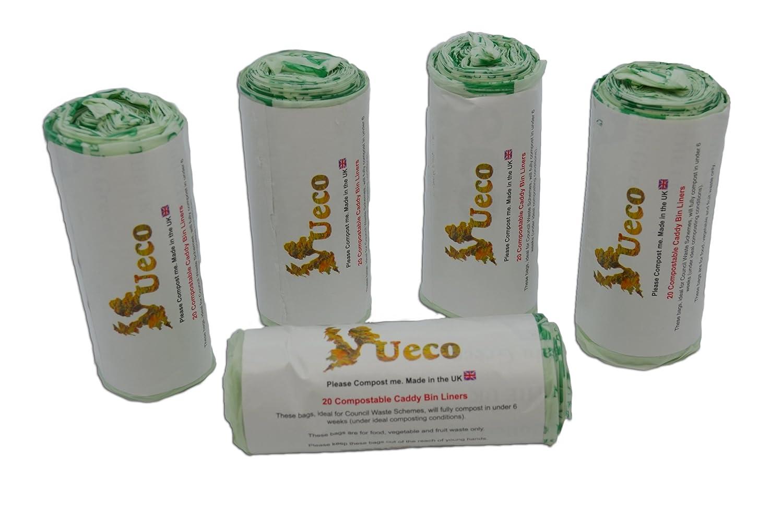 ueco 7 litre compostable kitchen caddy bin liners bags. Black Bedroom Furniture Sets. Home Design Ideas