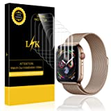 [6 Pack] LK Screen Protector for Apple Watch 44mm (Series 4), LiquidSkin [Max Coverage] Anti-Bubble with Lifetime Replacement Warranty (Color: Original Version)