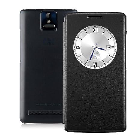 THL 2015 4G Smartphone Sans Abonnement 5,0 Pouces IPS FHD Ecran 1920*1080 Android 4.4 Octa-core MTK6752L ROM 16GB RAM 2GB Double SIM Double Caméra 13MP&8MP Compatible avec Orange SFR Bouygues Free-Noir