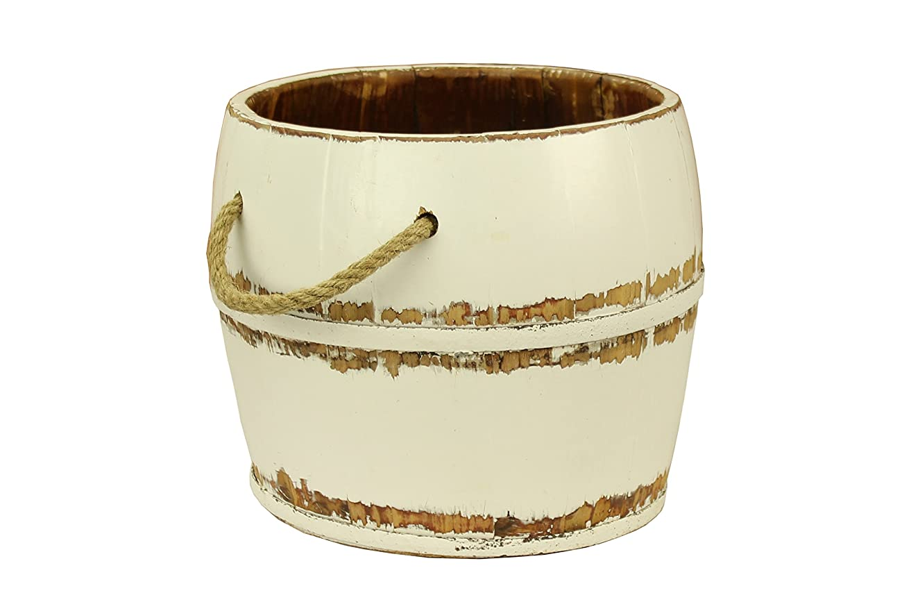 Antique Revival Navarro Garden Bucket, White 0