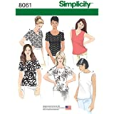 Simplicity 8061 Women's Shirt Assortment Sewing Patterns, Sizes 8-16 (Tamaño: available In Size: K5 (8-10-12-14-16))