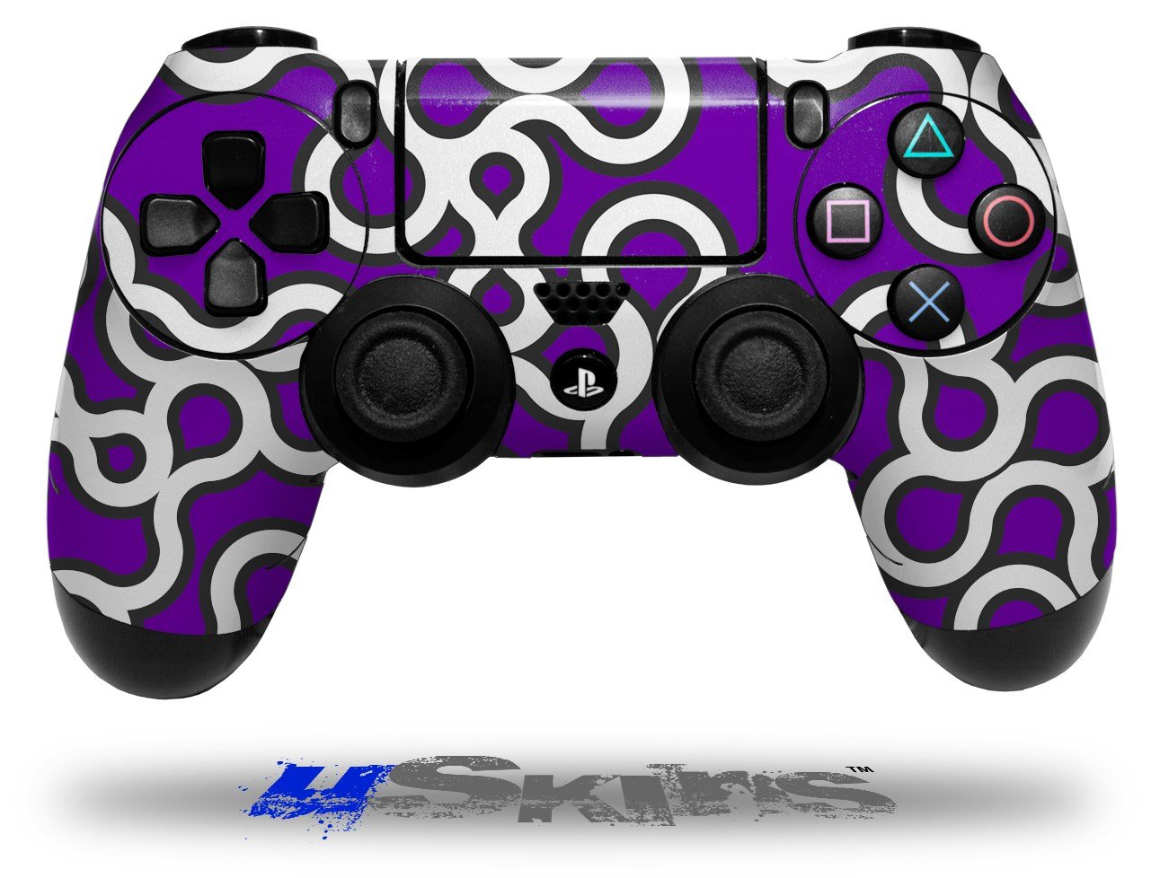 Locknodes 03 Purple - Decal Style Wrap Skin fits Sony PS4 Dualshock Controller 6pcs lot soft thumb grips thumbstick joystick high enhancements cover caps skin fit for sony play station 4 ps4 ps3 xbox 360