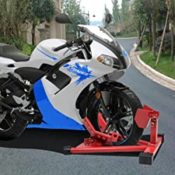 Motorcycle Sport Bike Front Wheel Chock Lift Stand