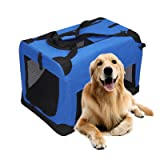 Magshion Portable Crates Kennels Fabric Transport with Sturdy Metal Frame Metal Cages (XXXL-48, Blue) (Color: Blue, Tamaño: XXXL-48