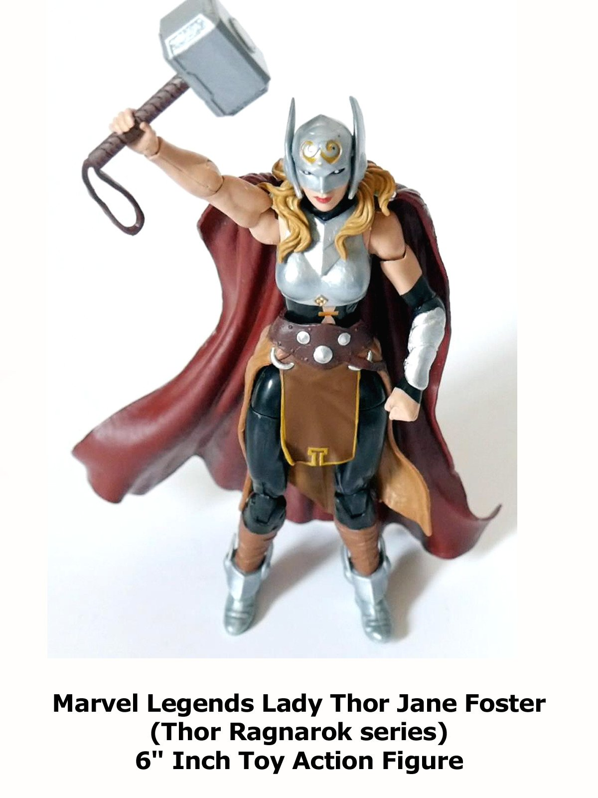 "Review: Marvel Legends Lady Thor Jane Foster (Thor Ragnarok series) 6"" Inch Toy Action Figure"