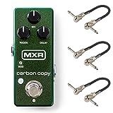 MXR M299 Carbon Copy Mini Analog Delay Bundle with 3 MXR Patch Cables