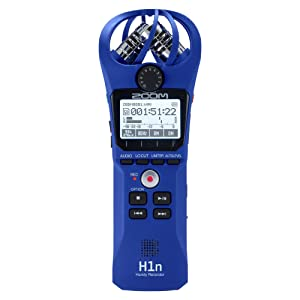 Zoom ZH1N Handy Portable Wireless Digital Audio Recorder w/Built in Microphone (Color: Blue)