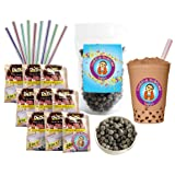 DeDe Instant Boba Tea Kit 9 Milk Tea Latte Drink Packets, Fat Straws & Boba (Tamaño: 10  Ounces)