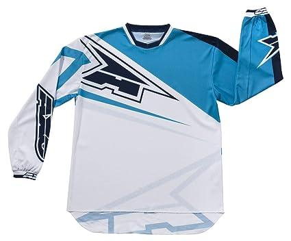AXO MX5T0060-WB TC222 Jersey, Taille L, Blanc/Bleu