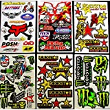 6 BLATT AUFKLEBER 7/N VINYL MOTOCROSS STICKERS BMX BIKE MX ROCKSTAR ENERGY DRINK DECAL