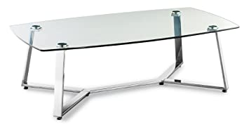 Zuo Lemon Drop Coffee Table, Long, Clear Glass