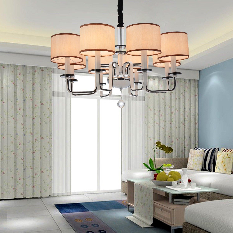 OOFAY LIGHT Moderne Luxuri?se Eisen Kristall-Kronleuchter mit 8 Licht günstig online kaufen