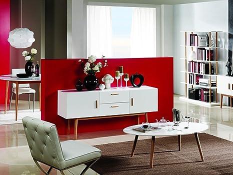 Sideboard Kommode Weiß Wohnzimmer Schlafzimmer Matt Vintage Elegant Holz Eiche