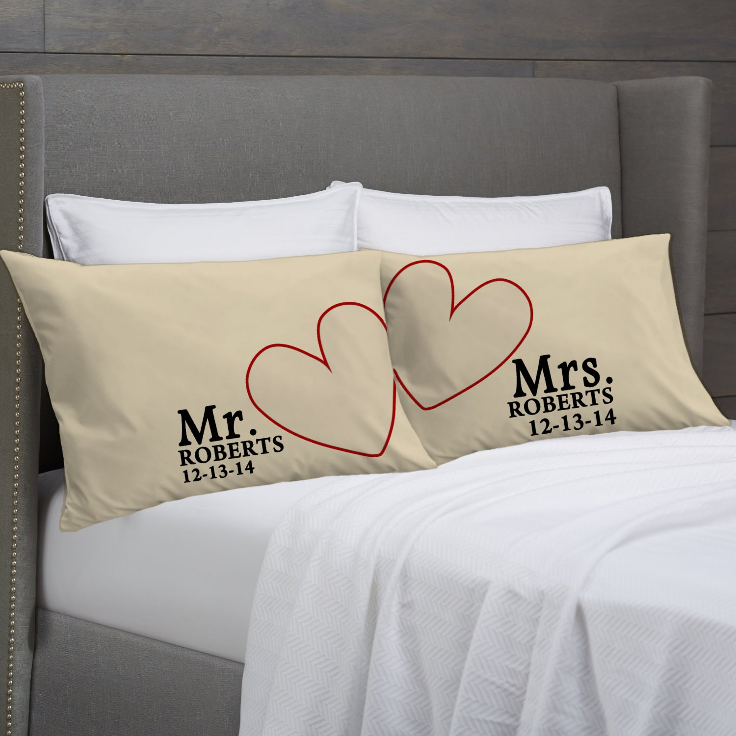 For Him Wedding Gifts : Cream, Standard) Personalized for Him for Her Engagement Wedding Gift ...