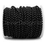 CleverDelights Ball Chain Spool - 30 Feet - 3.2mm Ball (#6 Size) - Dark Black Color - 10 Meters (Color: Black, Tamaño: 3.2mm)