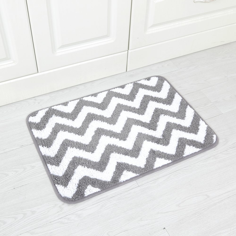 Carvapet 2 Pieces Microfiber Chevron Non-Slip Soft Kitchen