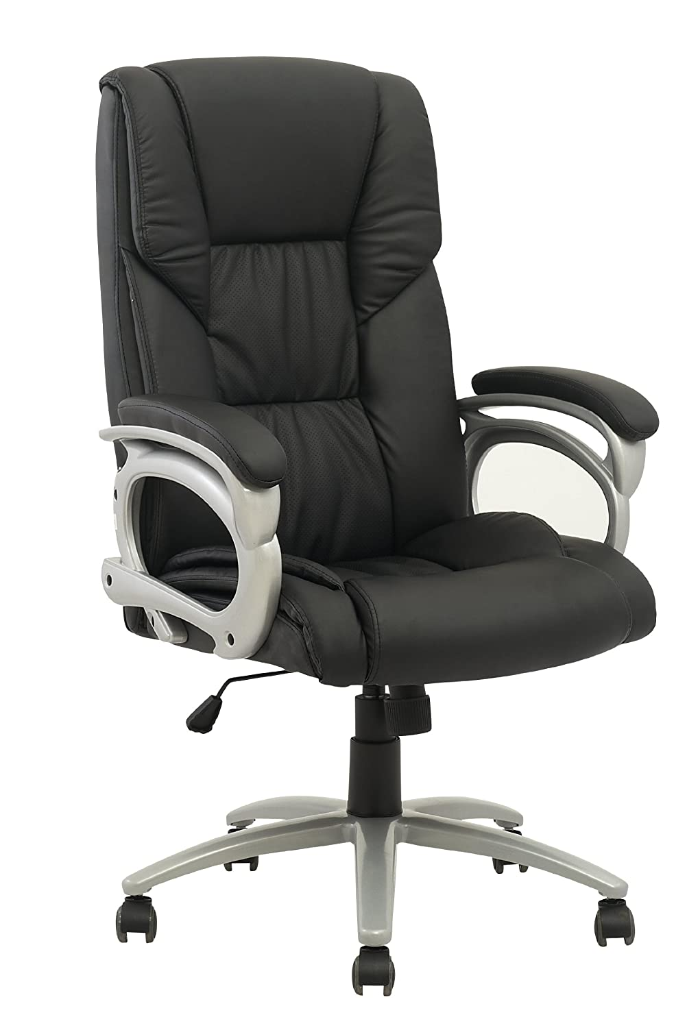 New High Back Executive Leather Ergonomic Office Chair w/Metal Base O15